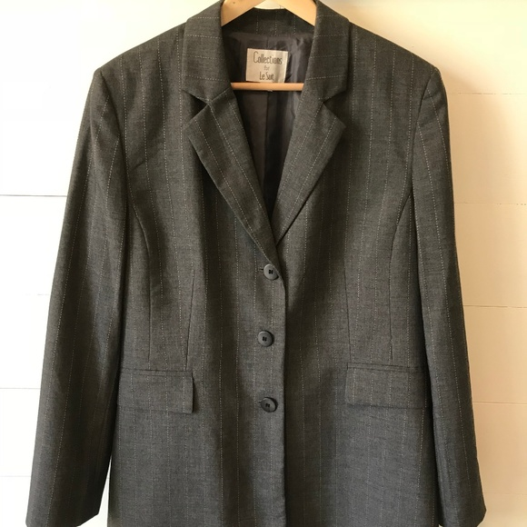 le suit jackets coats plus size 16 career blazer suit jacket